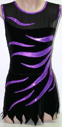 Women's Rhythmic Leotard SDRL#2-Rich Purple Swirl Australia